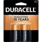 Batteries, C, 2/pk Duracell