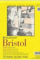 Paper, Bristol Pad, 9x12, Smooth, 20 Sheets
