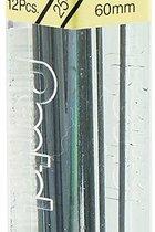 Pencil Lead refills, HB, 0.5mm, 12/tube