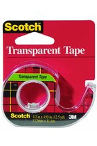 "Tape, 1/2"" x 450 yd., transparent, Scotch"