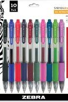 Pen, Sarasa Gel-Ret,10Pk asstd